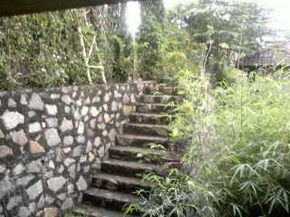 tangga...samping lantera